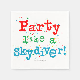 ¡Fiesta como un SKYDIVER! Servilletas De Papel