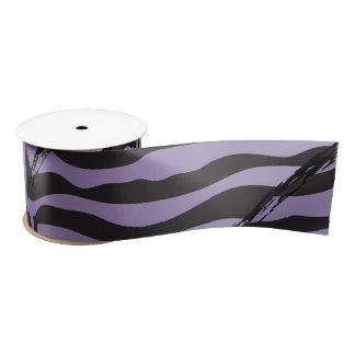 Fiesta como una cinta púrpura del estampado de lazo de raso