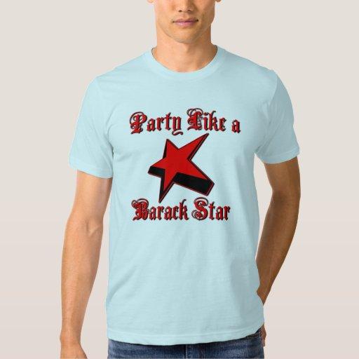 Fiesta como una estrella de Barack Remera