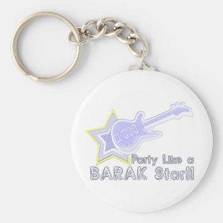 Fiesta como una estrella de Barak Llaveros Personalizados