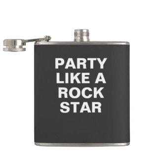 Fiesta como una estrella del rock petaca