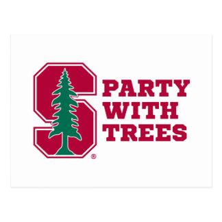 Fiesta con los árboles 2 postal