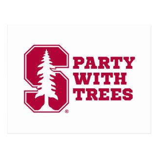 Fiesta con los árboles 4 postal