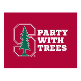 Fiesta con los árboles postal