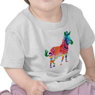 Fiesta con monograma del modelo de los animales de camiseta
