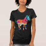 Fiesta con monograma del modelo de los animales de camisetas