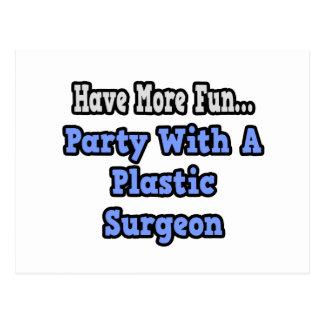 Fiesta con un cirujano plástico tarjetas postales