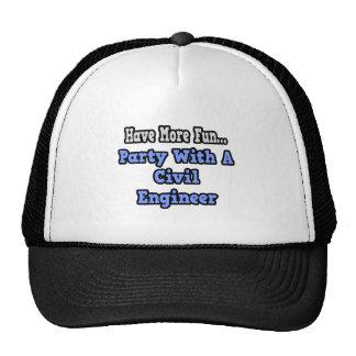 Fiesta con un ingeniero civil gorras