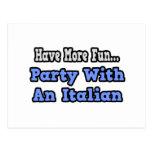 Fiesta con un italiano postales