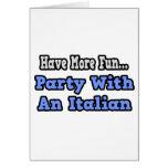 Fiesta con un italiano tarjetón