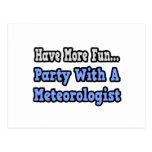 Fiesta con un meteorólogo postal