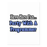 Fiesta con un programador postal