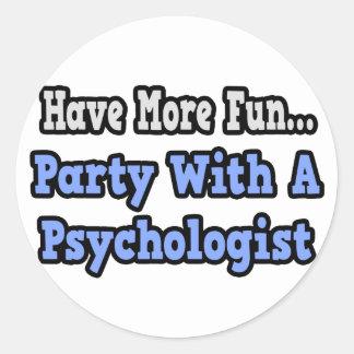 Fiesta con un psicólogo etiquetas redondas