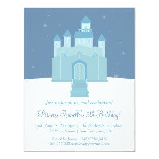 """Fiesta congelada hielo de la princesa cumpleaños invitación 4.25"""" x 5.5"""""""