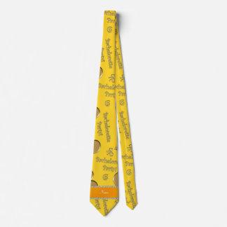 Fiesta conocido del bachelorette de los corazones corbata personalizada