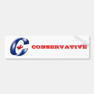 Fiesta conservador de la mercancía política de Can Etiqueta De Parachoque