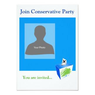 """Fiesta conservador de la plantilla de la invitación 5"""" x 7"""""""