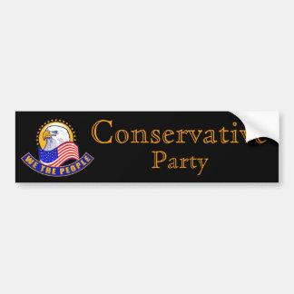 """Fiesta conservador """"nosotros la gente """" pegatina para auto"""