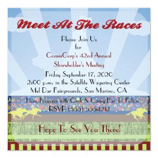 Fiesta corporativo del acontecimiento de la raza invitación 13,3 cm x 13,3cm