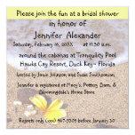 Fiesta costero de la ubicación de la ducha nupcial invitación 13,3 cm x 13,3cm