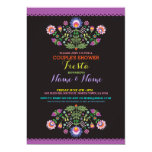 Fiesta Couples Shower Engage Mexican Floral Invite