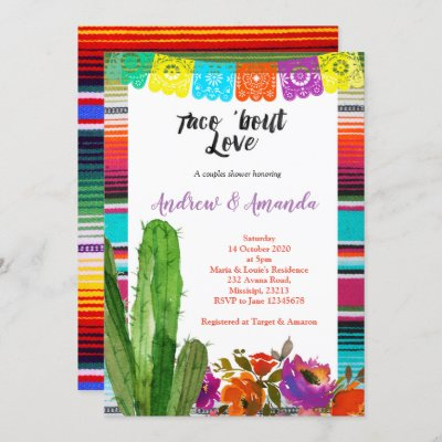 Fiesta Couples Shower Invitation Mexican