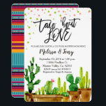 "Fiesta Couples Shower Invitation Taco Bout Love<br><div class=""desc"">Fiesta Couples Shower Invitation Taco Bout Love invitation with cactus. Perfect for baby shower,  couples shower,  bridal shower,  etc.</div>"