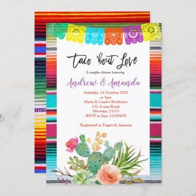 Fiesta Couples Wedding Shower Invitation