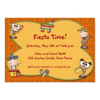 Fiesta Critters Invitation