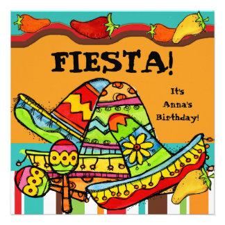 Fiesta Customized  Birthday Invitations