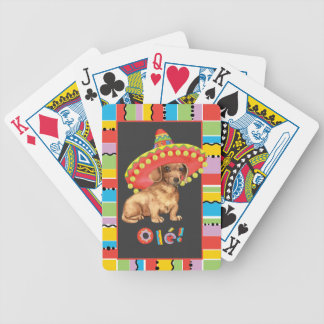 Fiesta Dachshund Bicycle Playing Cards