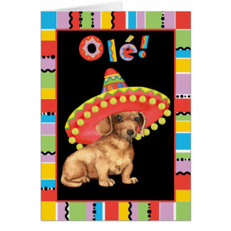Fiesta Dachshund Card