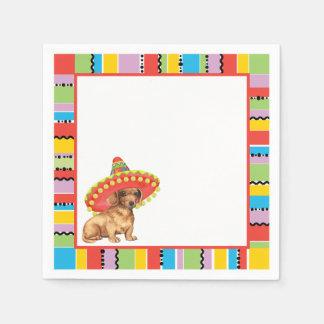 Fiesta Dachshund Paper Napkin