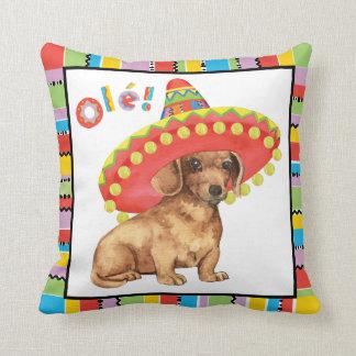Fiesta Dachshund Throw Pillow