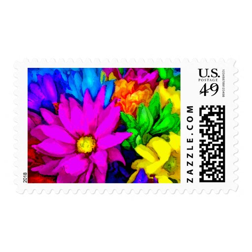 Fiesta Daisies Postage Stamps