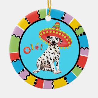 Fiesta Dalmatian Ceramic Ornament