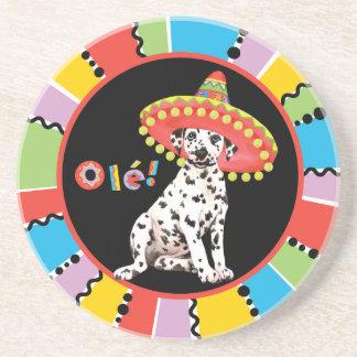 Fiesta Dalmatian Sandstone Coaster
