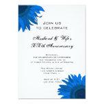 Fiesta de aniversario azul del boda de la flor del comunicado personalizado