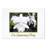 Fiesta de aniversario blanca quebradiza 15 de las invitación 12,7 x 17,8 cm
