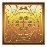 Fiesta de aniversario cristiana Inv del boda de la Invitación 13,3 Cm X 13,3cm