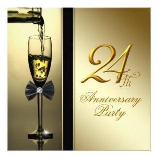 Fiesta de aniversario de Champán del oro elegante