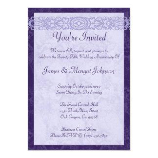 """Fiesta de aniversario de la púrpura real invitación 5"""" x 7"""""""