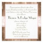 Fiesta de aniversario de madera del boda del cordó comunicado personal