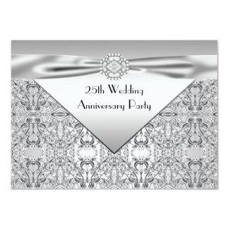 """Fiesta de aniversario elegante de la bodas de invitación 4.5"""" x 6.25"""""""