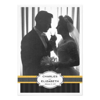 Fiesta de aniversario elegante del boda de la foto