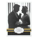 Fiesta de aniversario elegante del boda de la foto anuncios personalizados