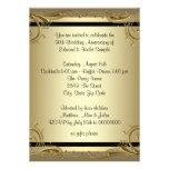 Fiesta de aniversario elegante del boda del oro 50 comunicados personalizados