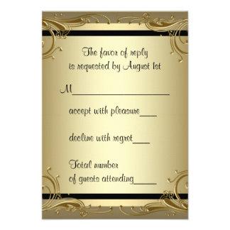 Fiesta de aniversario elegante del boda del oro 50 invitacion personal