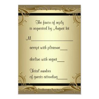 Fiesta de aniversario elegante del boda del oro invitación 8,9 x 12,7 cm