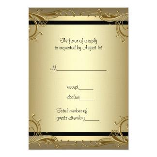 Fiesta de aniversario elegante RSVP del boda del o Invitación